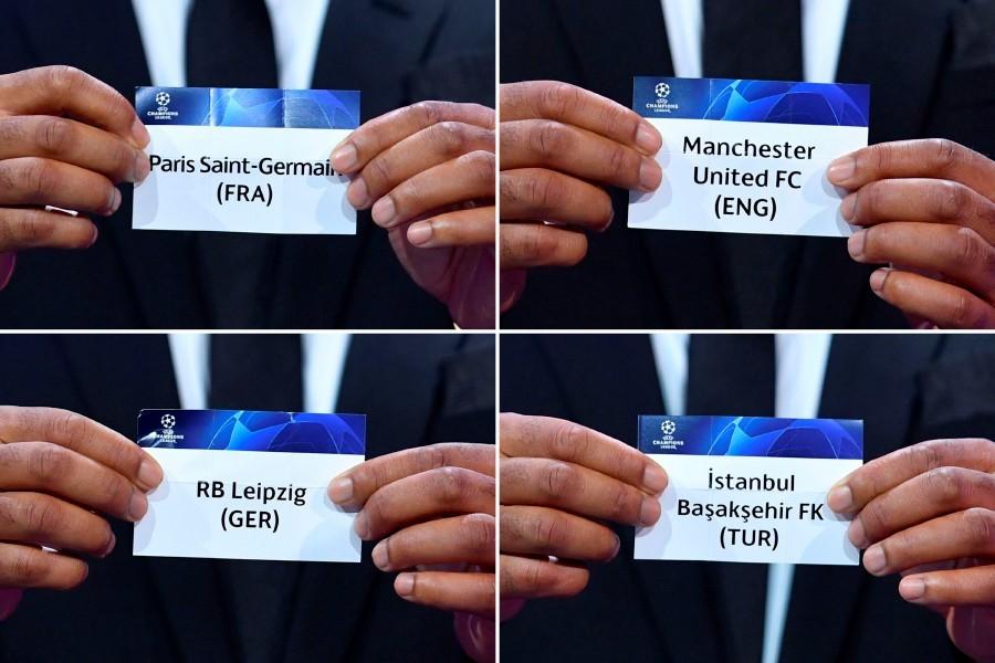 Group H teams champions league Paris Saint-Germain Manchester united FC RB Leipzig Istanbul basaksehir FK